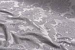 Отрез ткани жаккард шенилл пике с крупным узором, цвет серый (№2372), размер 40*240 см, фото 3