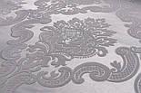 Отрез ткани жаккард шенилл пике с крупным узором, цвет серый (№2372), размер 40*240 см, фото 4