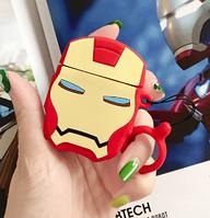 Мультяшный чехол IQEA Iron Man с кольцом для наушников Apple AirPods TWS i10 i12 i13
