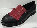 Туфли женские из натуральной кожи от производителя модель КС2002-2, фото 3