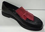 Туфли женские из натуральной кожи от производителя модель КС2002-2, фото 6