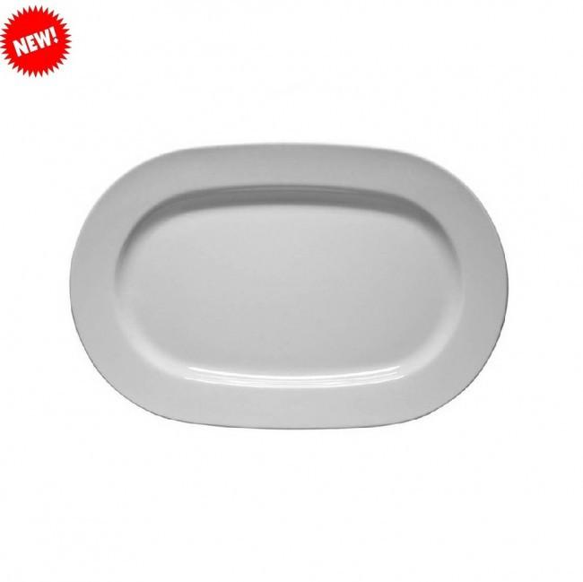 Тарелка белая фарфоровая овальная Kutahya Frig 220мм.