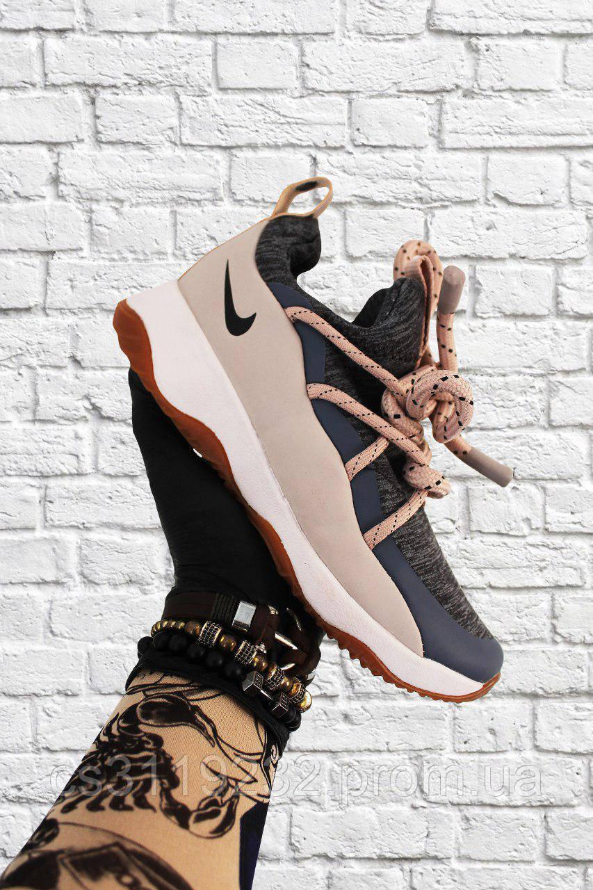 Женские кроссовки Nike City Loop Gray Beige (серо-бежевые)