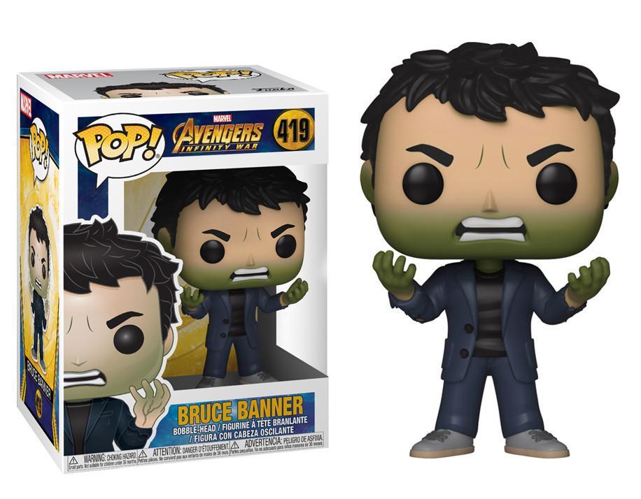 Фигурка Funko Pop Avengers Infinity War Bruce Banner Мстители Война бесконечности Брюс Бэннер hulk  ВВ 419