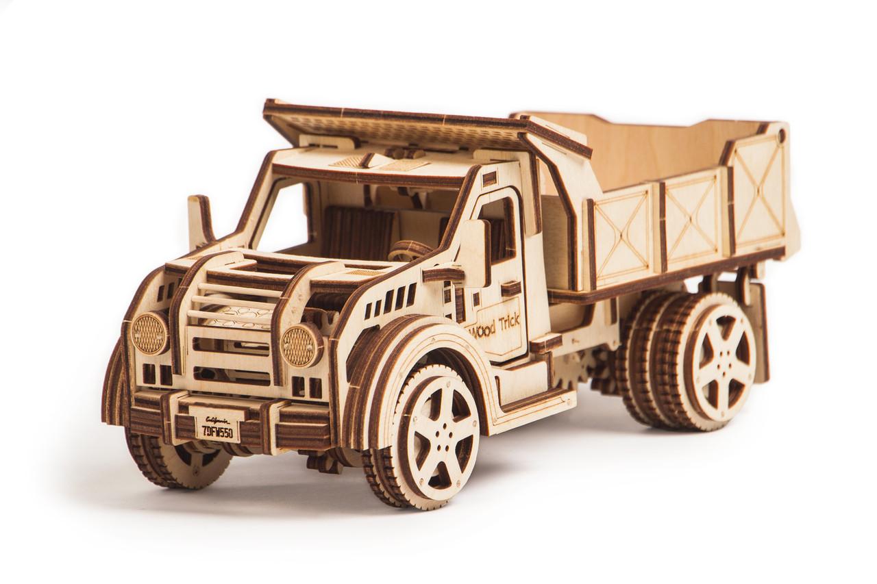 Собранная модель конструктора Грузовик. Сувенир из дерева Wood trick. Гарантия качества (Опт, дропшиппинг)