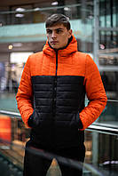 """Демисезонная Куртка """"Temp"""" бренда Intruder (оранжевая - черная) S"""