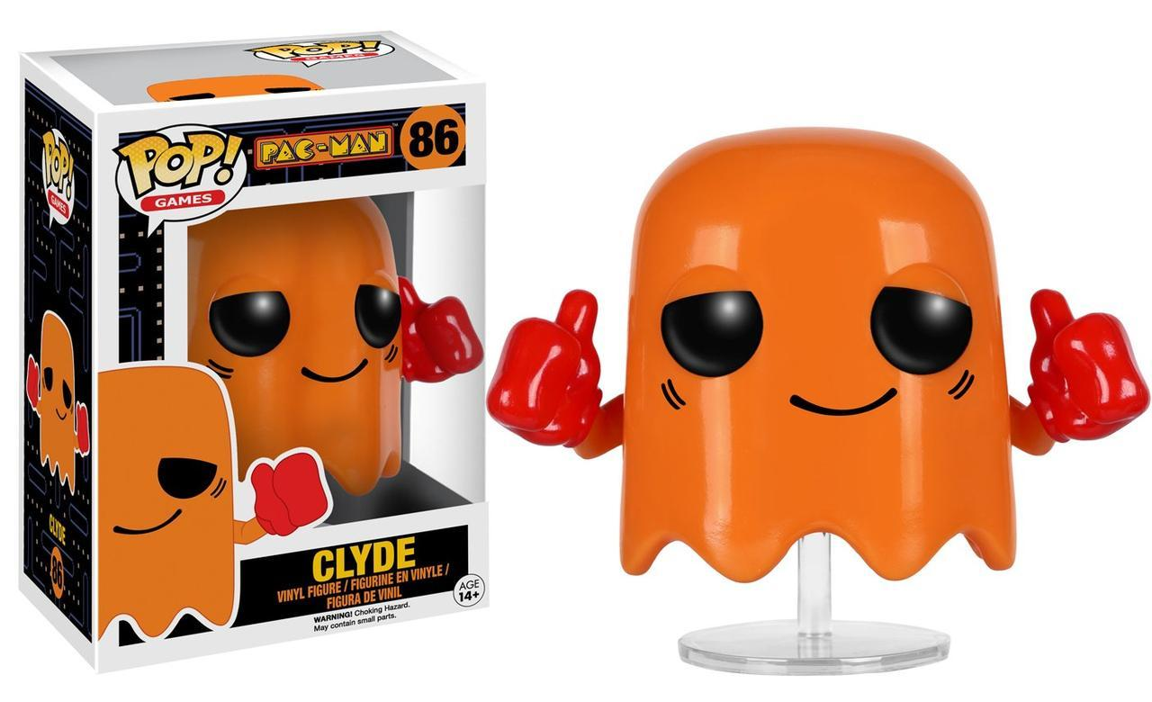 Фигурка Funko Pop Фанко Поп Пакман Призрак Клайд Pacman Clyde 10 cм Game P C 86