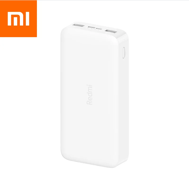 Универсальная мобильная батарея Xiaomi Redmi Power Bank 20000 mAh Micro-USB/USB-C (2USB) White