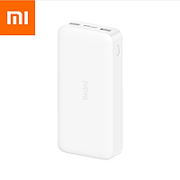 Универсальная мобильная батарея Xiaomi Redmi Power Bank 20000 mAh Micro-USB/USB-C (2USB) White ОРИГИНАЛ