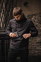 Куртка мужская демисезонная,ветровка непромокаемая,(черный)
