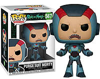 Фигурка Funko Pop Фанко Поп Рик и Морти Морти в костюме Rick and Morty Suit Morty 10 см RM SR 567