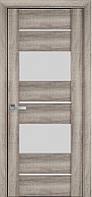 Дверь межкомнатная АСКОНА Бук Баварский 900 мм со стеклом сатин (матовое), ПВХ Viva.
