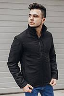 Мужская куртка весна-осень Slimtex (черная)