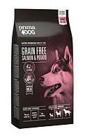 Сухой беззерновой корм для собак всех пород Prima Dog с лососем и картофелем 12 кг