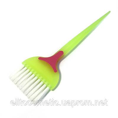 Кисть для окрашивания волос DenIS professional белый ворс - сотвствкой(1197)