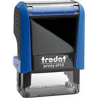 Оснастка для штампа пластиковая прямоугольная Trodat Printy 4910 26х9 мм синяя