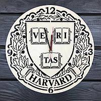 Нeобычные деревянные часы в интерьер «Гарвард», фото 1