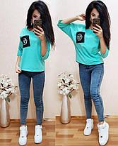 Стильная футболка, размеры 42-44,44-46,46-48, фото 2