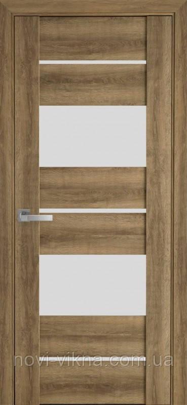 Дверь межкомнатная АСКОНА Бук Шато 900 мм со стеклом сатин (матовое), ПВХ Viva.