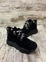 Демисизонная детская и подростковая обувь из натуральной замши