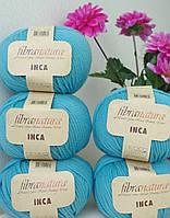 Чистошерстяная пряжа Fibranatura Inka голубая бирюза