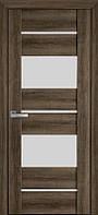 Дверь межкомнатная АСКОНА Бук Табачный 800 мм со стеклом сатин (матовое), ПВХ Viva.