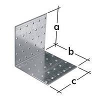 Уголок монтажный равносторонний KM 8 (80 мм х 80 мм х 60 мм х 2 мм) Domax Польша строительный крепеж, фото 1
