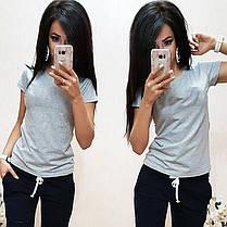 Модная женская футболка, размеры от 42 до 54, фото 3