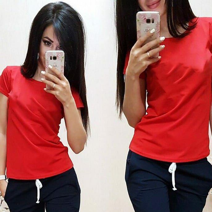 Модная женская футболка, размеры от 42 до 54