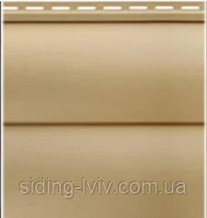 Блок-хаус сайдинг Золотистий Альта-Профіль двухпереломний вініловий