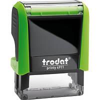 Оснастка для штампа пластиковая прямоугольная Trodat Printy 4911 38х14 мм зелёная
