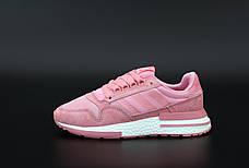 Женские кроссовки в стиле Adidas ZX 500 Pink розовые, фото 3