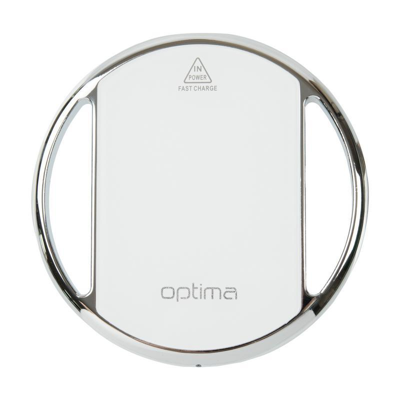 Беспроводное ЗУ Optima Energy Space Fast Charger 5-12V White