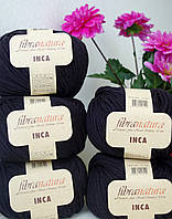 Чистошерстяная пряжа Fibranatura Inka черный