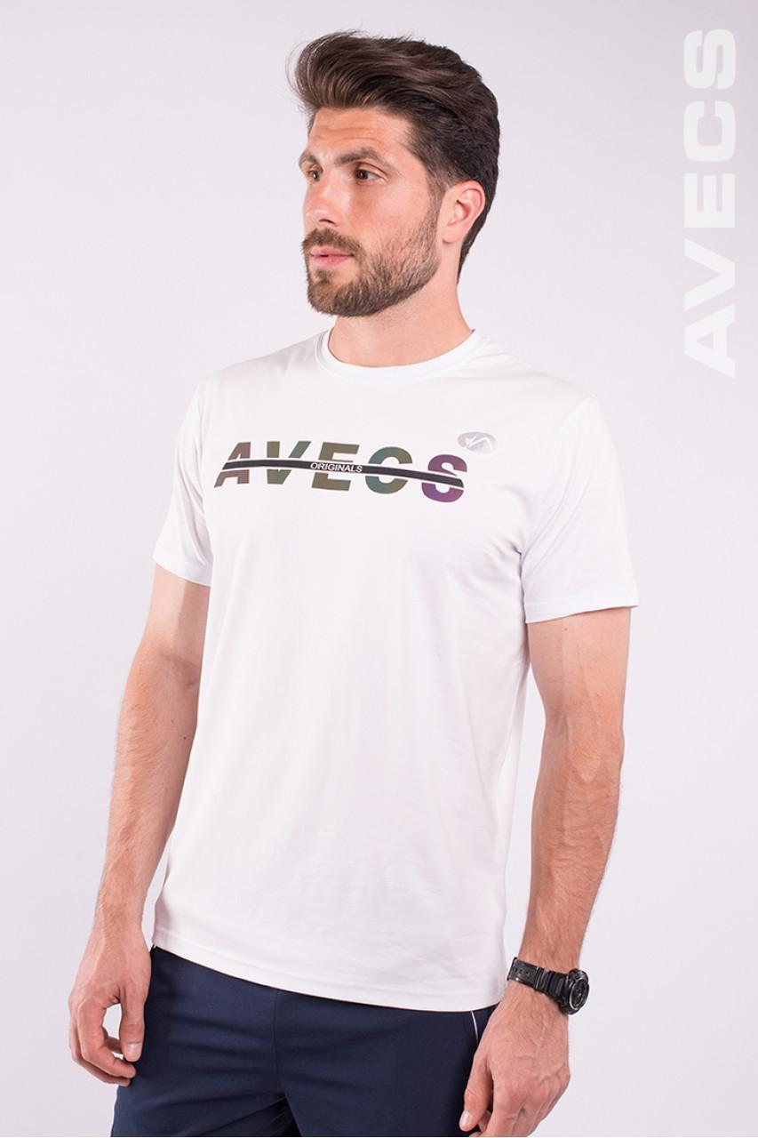 Футболка мужская белая Avecs AV-2209/5 белая Размеры M L 3XL