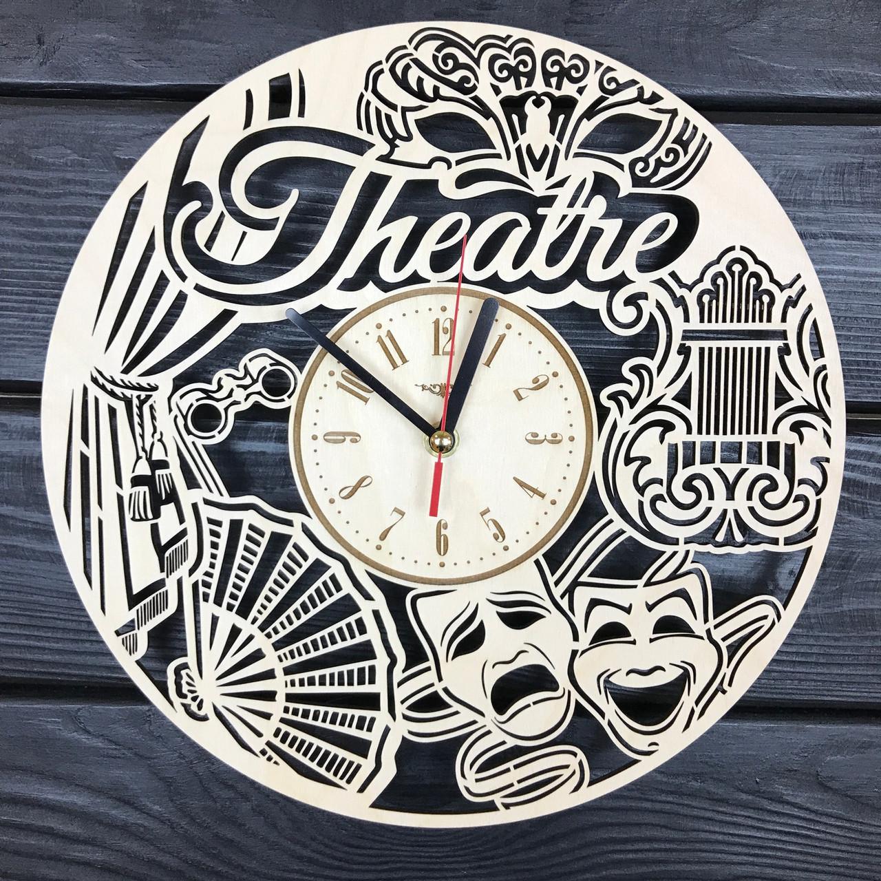 Концептуальные деревянные часы «Театр»