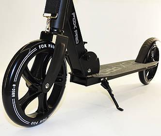 Самокат двухколесный складной Maraton Fox Pro Детский алюминиевый черный Колеса 20 см