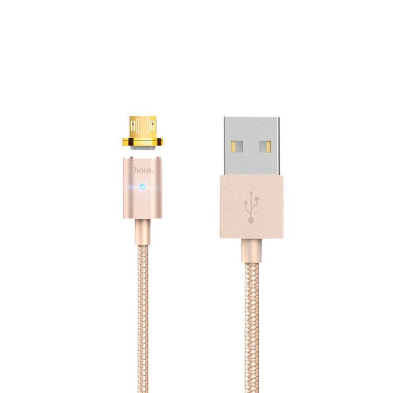 Кабель USB Hoco U16 Magnetic Absorption MicroUSB Gold 1m