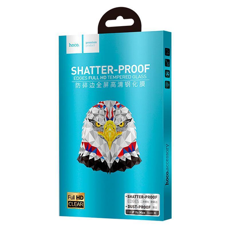Защитное стекло Hoco Shatterproof Edge Full Screen HD Glass iPhone XS Max/11 Pro Max (A1) Black