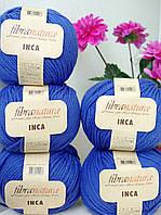 Чистошерстяная пряжа Fibranatura Inka ярко синий