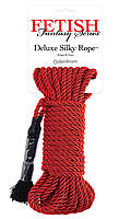 Fetish Fantasy Series Deluxe Silky Rope Red, фото 1