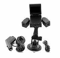 Видео регистратор автомобильный DVR H3000 2 камеры, фото 3