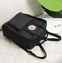 Рюкзак сумка стильный Fjallraven Kanken Classic Черный / Портфель канкен, фото 3