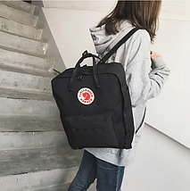 Рюкзак сумка стильный Fjallraven Kanken Classic Черный / Портфель канкен, фото 2