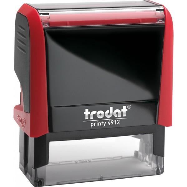 Оснастка для штампа пластиковая прямоугольная Trodat Printy 4912 47х18 мм красная