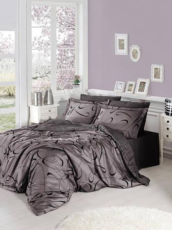 Комплект постельного белья First Choice Satin Сalisto leylak, фото 2