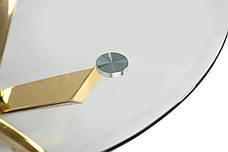 Стол Т-317 (Прозрачный + Золото) D=800, фото 3