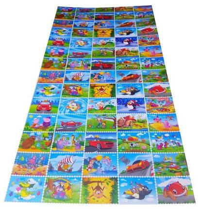 Детский игровой развивающий коврик Verdani Пазл 1900х900х10 мм, фото 2