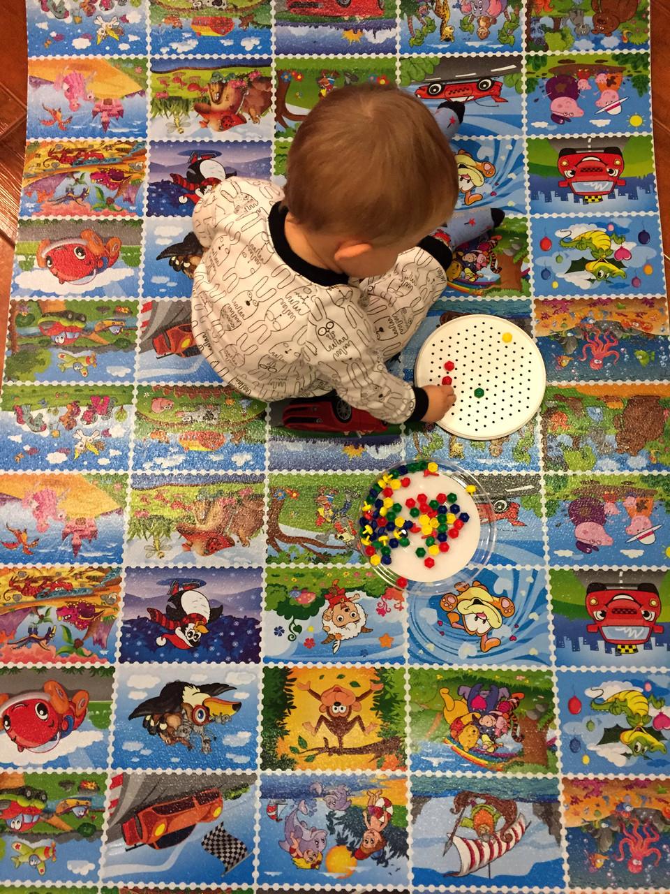 Детский игровой развивающий коврик Verdani Пазл 1900х900х10 мм