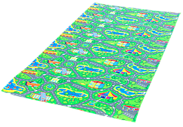 Детский игровой развивающий коврик Verdani Городок 1500х1100х8 мм